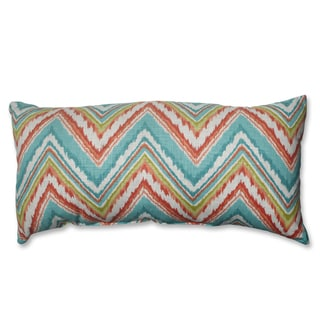 Pillow Perfect Chevron Cherade Bolster Throw Pillow