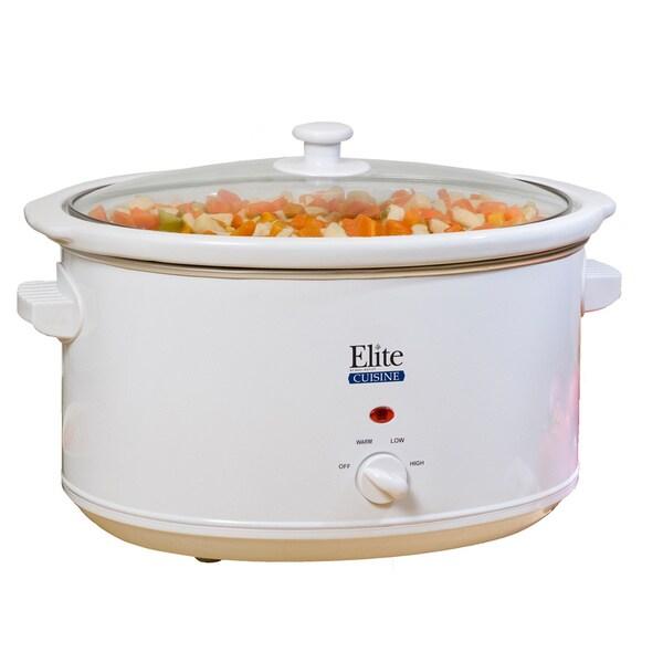 Elite Cuisine White 8.5-quart Slow Cooker