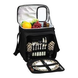 Picnic at Ascot London Picnic Cooler for Two Black/London Plaid