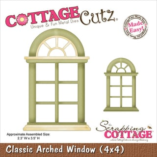 "CottageCutz Die 4""X4""-Classic Arched Window Made Easy"