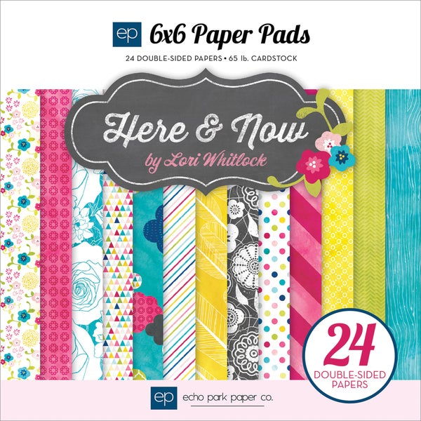 """Here & Now Double-Sided Cardstock Pad 6""""X6"""" 24/Sheets-"""
