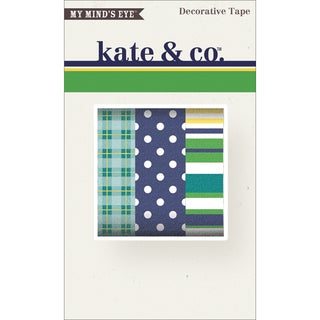 Kate & Co. Decorative Tape 3 Rolls/Pkg-Oxford Lane