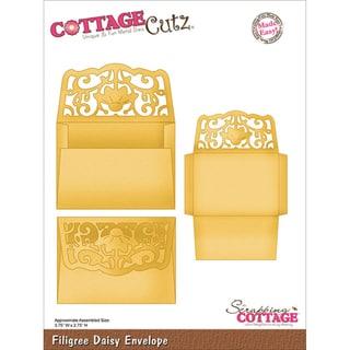 CottageCutz Die-Filigree Daisy Envelope Made Easy
