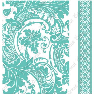 "Cricut Cuttlebug 5""X7"" Embossing Folder/Border Anna Griffin Acanthus Set"