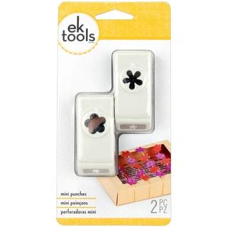 Slim Mini Paper Punches 2/Pkg-Flower & Retro Flower