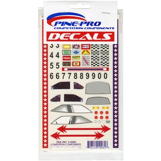 Pine Car Derby Super Stock with Bonus Number Set Decal