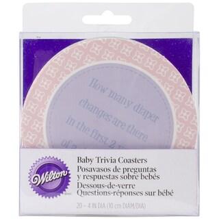 Wilton Coasters 20/Pkg-Baby Shower