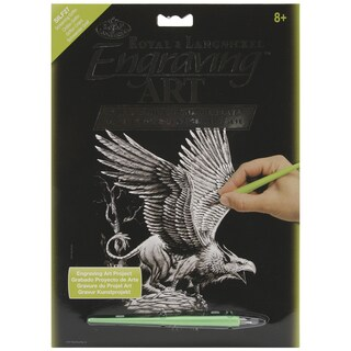 "Silver Foil Engraving Art Kit 8""X10""-Screaming Griffin"