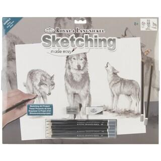Royal Brush Sketching Made Easy Large Kit-Wolves