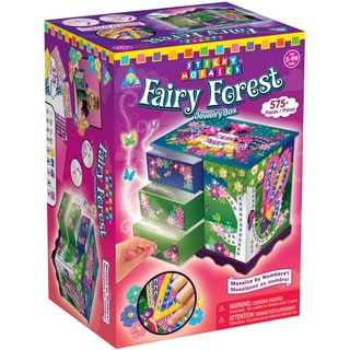 Sticky Mosaics Kit-Fairy Forest Jewelry Box