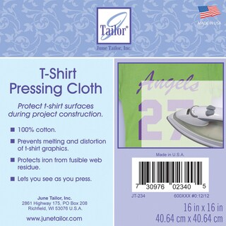 "T-Shirt Pressing Cloth 16""X16""-"