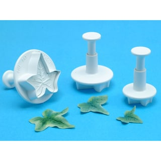 Plunger Cutter Set 3 Pieces-Veined Ivy Leaf