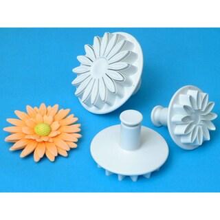 Plunger Cutter Set 3 Pieces-Veined Sunflower/Daisy/Gerbera