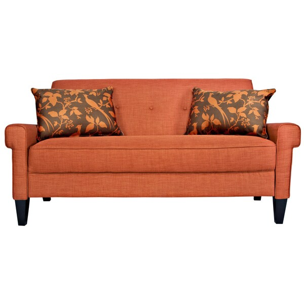 Handy Living Ennis California Vintage Orange Sofa