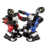 Blue Hat Remote Controlled Battle Boxing Robots (Set of 2)