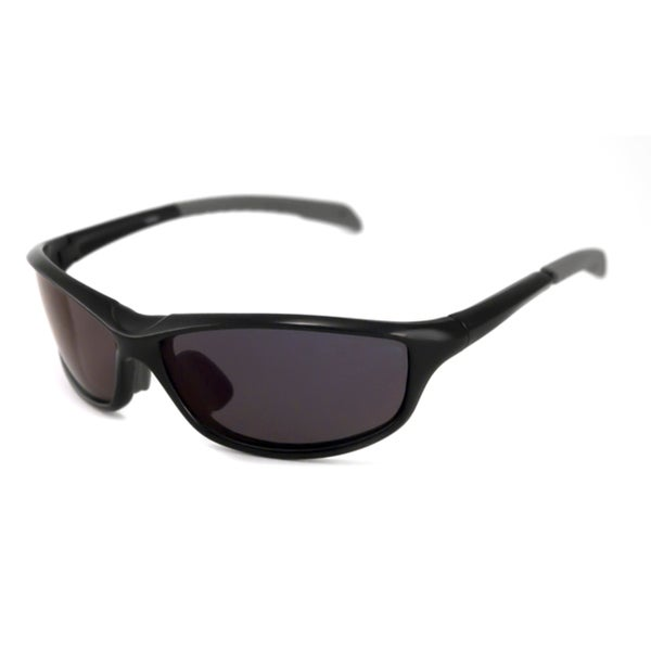 Alta Vision Men's/ Unisex La Jolla Black/Polarized Grey Wrap Sunglasses