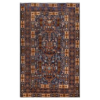 Herat Oriental Afghan Hand-knotted Tribal Balouchi Wool Rug (3'10 x 6'2)