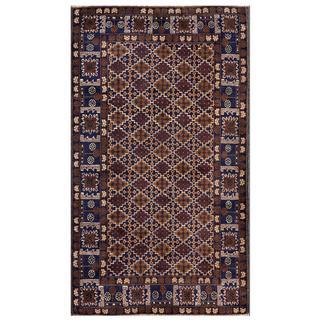 Handmade One-of-a-Kind Balouchi Wool Rug (Afghanistan) - 3'11 x 6'8