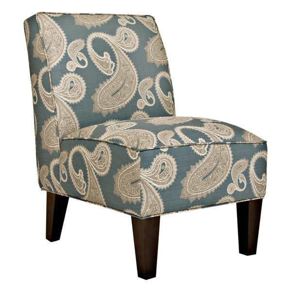 Better Living Dover Feathered Paisley French Blue Armless Chair