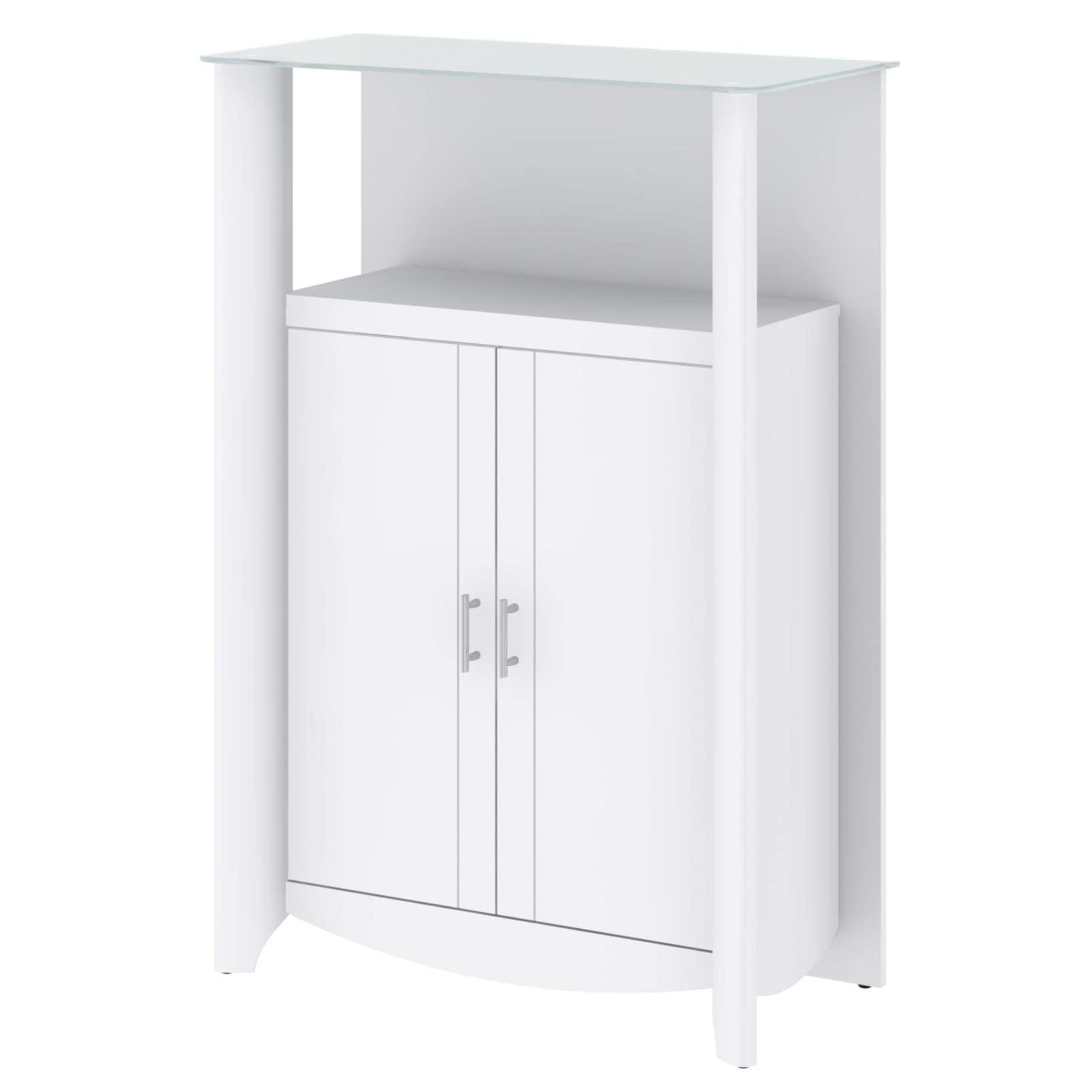 Bush Furniture Aero Library Storage Cabinet with Doors (W...