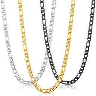 Stainless Steel Crucible Figaro Chain Necklace