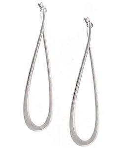 Journee Collection Sterling Silver Twist Dangle Earrings