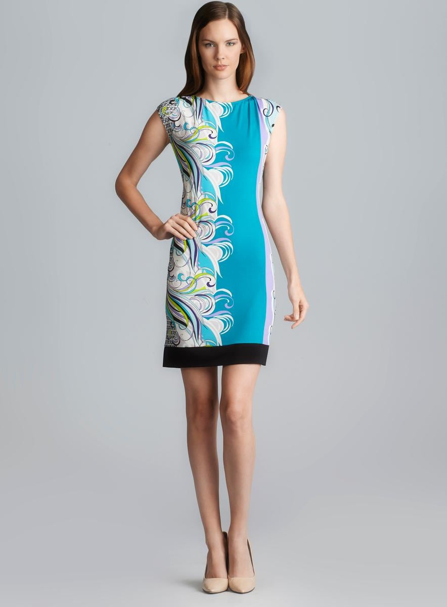 2536420ad45399 Shop Donna Morgan Sleeveless Mixed Print Sheath Dress - Free Shipping On  Orders Over  45 - Overstock - 8249613