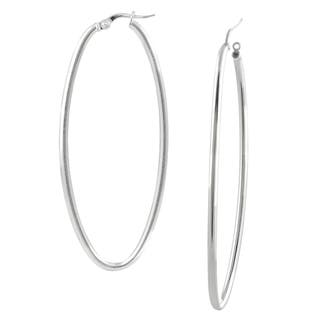 Journee Collection Sterling Silver Designer Oval Earrings|https://ak1.ostkcdn.com/images/products/824962/P953438.jpg?impolicy=medium