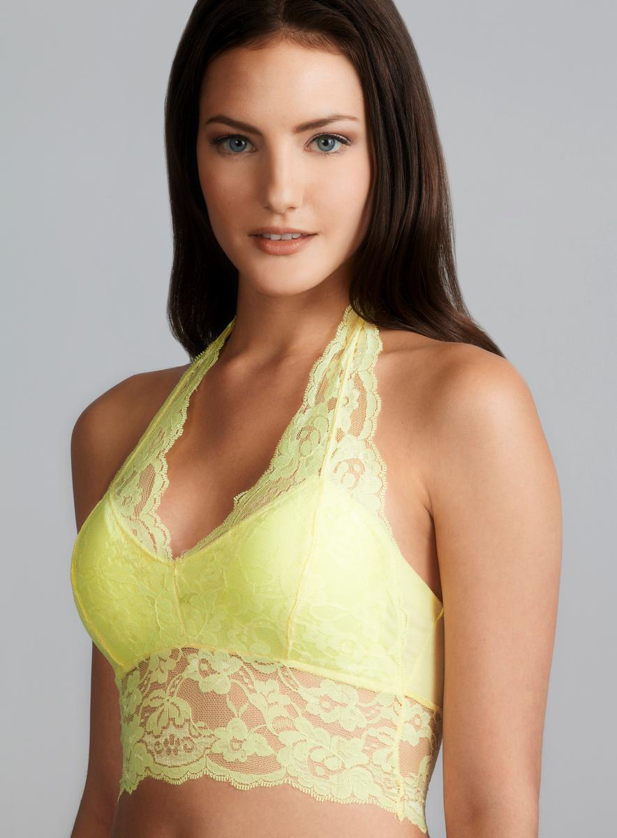70c9c435cbd57 Shop Rene Rofe Removable Pad Lace Bralette - Free Shipping On Orders Over   45 - Overstock.com - 8249647