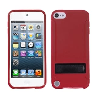 Link to Insten Red/ Black Hard Snap-on Case Cover with Stand For Apple iPod Touch 5th/ 6th Gen Similar Items in MP3 & iPod Accessories
