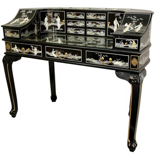 Handmade Black Lacquer and Mother of Pearl Writing Desk (China)