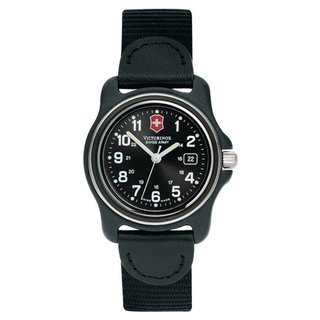Victorinox Swiss Army Women's Original Black Dial Black Bezel Nylon Watch - 24379