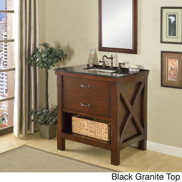 Direct Vanity Sink 32 Inch Espresso Spa Single Cabinet