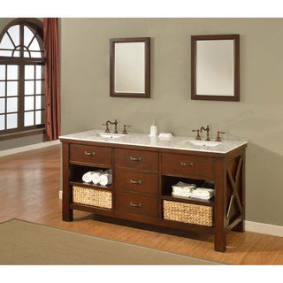 Direct Vanity Sink 70-inch Espresso Xtraordinary Spa Double Vanity Sink Cabinet