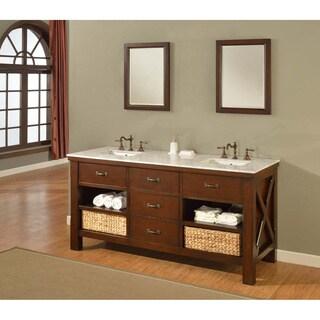 Direct Vanity Sink 70-inch Espresso Xtraordinary Spa Double Vanity Sink Cabinet
