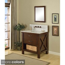 Direct Vanity 32-inch Espresso Xtraordinary Spa Premium Single Vanity Sink Cabinet