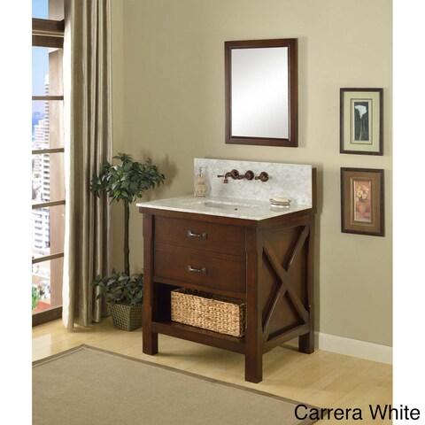 Direct Vanity 32-inch Espresso Xtraordinary Spa Premium Single Vanity Sink Cabinet