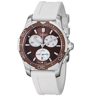 Swiss Army Women's Alliance Sport Chrono Brown Dial White Rubber Watch|https://ak1.ostkcdn.com/images/products/8249796/8249796/Swiss-Army-Womens-Alliance-Sport-Chrono-Brown-Dial-White-Rubber-Watch-P15576224.jpg?impolicy=medium