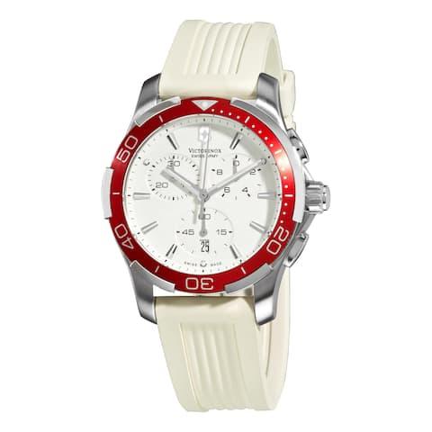 Swiss Army Women's Alliance Sport Chrono White Dial Red Bezel Watch