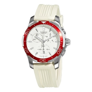 Swiss Army Women's Alliance Sport Chrono White Dial Red Bezel Watch
