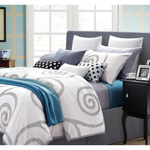 EverRouge Serenty Cotton Swirl 7-piece Duvet Set