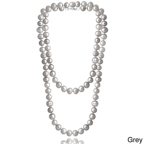 Glitzy Rocks Colored Freshwater Pearl 36-inch Necklace