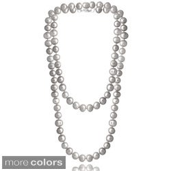Glitzy Rocks Colored Freshwater Pearl 36 inch Necklace (8-9 mm)