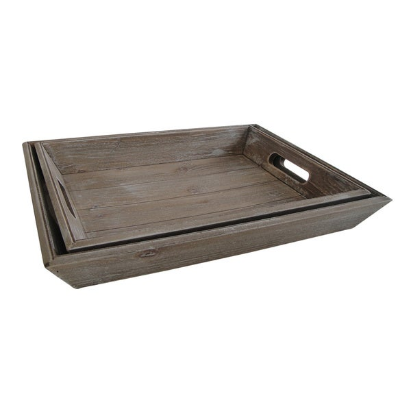 Handmade Natural Wood Nesting Trays (China). Opens flyout.