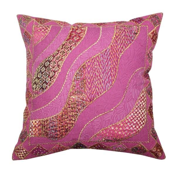 Khambadia Throw Pillow  , Handmade in India