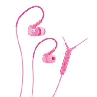 MEE audio M6P Memory Wire In-ear Pink Headphones with Microphone, Remote, and Universal Volume Control