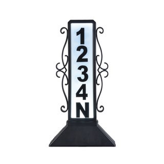 Double-sided Lighted Address Sign