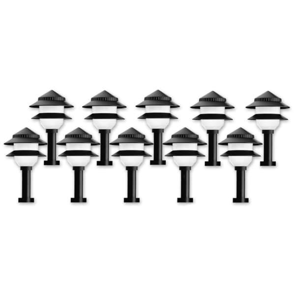 Plastic 1-light Low Voltage Outdoor Lights (Pack of 10)