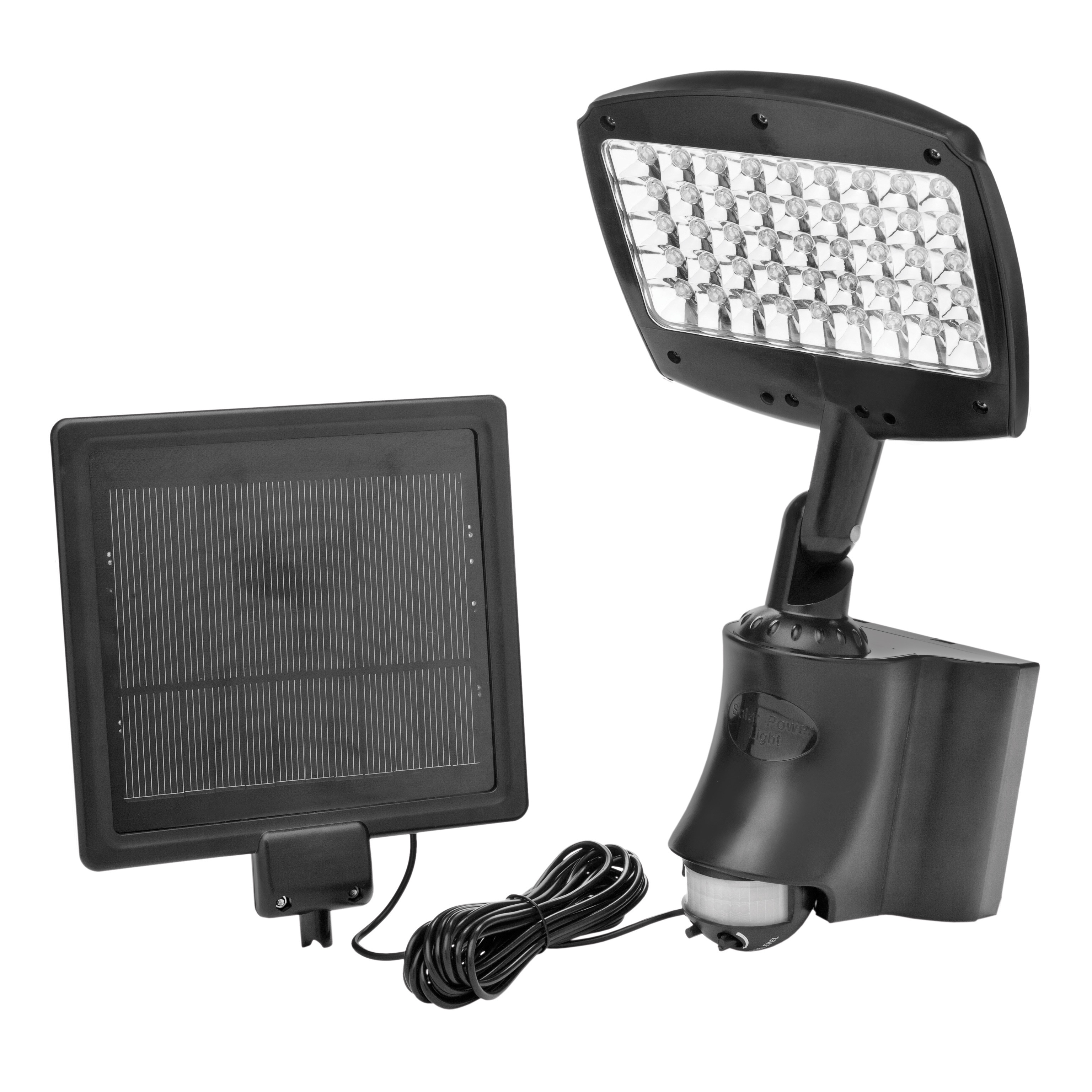 Coleman Cable Systems 45 LED Motion Act Solar Flood, Black