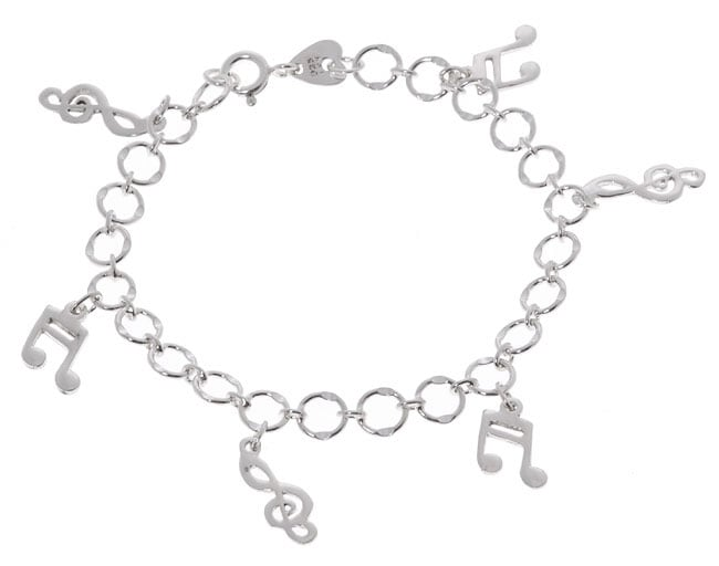Journee collection Journee Sterling Silver Music Notes Br...